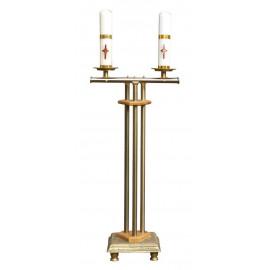 Świecznik na dwie świece 97/32 cm