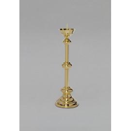Lichtarz mosiężny, złocony - 59 cm.