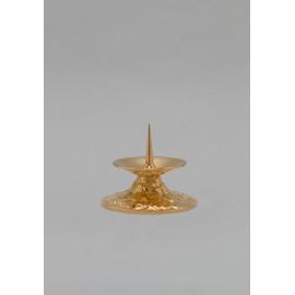 Lichtarz mosiężny, złocony - 7 cm