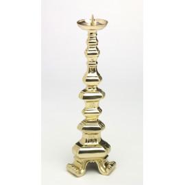 Świecznik ołtarzowy z litego mosiądzu - 40 cm