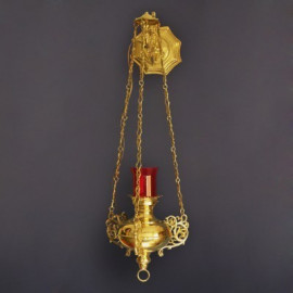 Lampa wieczna mosiężna, wisząca