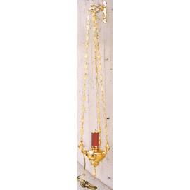 Lampka wieczna, wisząca, elektryczna lub oliwna - 38 cm.